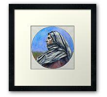 """Draped figure in a Moorland"" Framed Print"