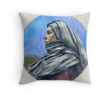 """Draped figure in a Moorland"" Throw Pillow"