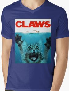 Meow Claws Parody Mens V-Neck T-Shirt