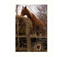 """Farm Horse and the Hay Wagon""  Art Print"