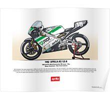 Aprilia RS 125R - 1992 Bruno Casanova Poster