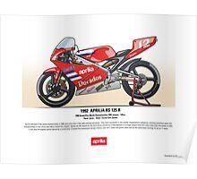 Aprilia RS125R - 1992 - Carlos Giro Sentis Poster