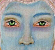 Light Portrait-Blue Owl Boy Sticker