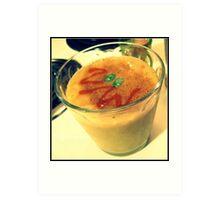 150/365 Banana clementine grape smoothie with margarita jelly beans, nutmeg and sriracha. Dinner! Art Print