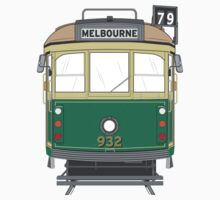 Melbourne Heritage Tram One Piece - Short Sleeve