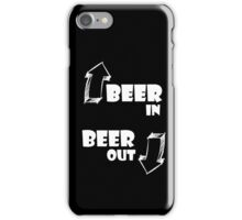 Beer in, Beer out. White iPhone Case/Skin