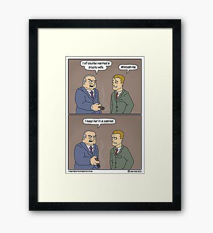 Remember, girls, stay in school.  Framed Print