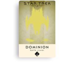 Dominion Battle Cruiser Canvas Print