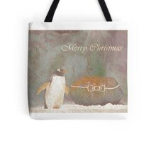 Cave Dweller Penguin (With Rock Gift) Tote Bag