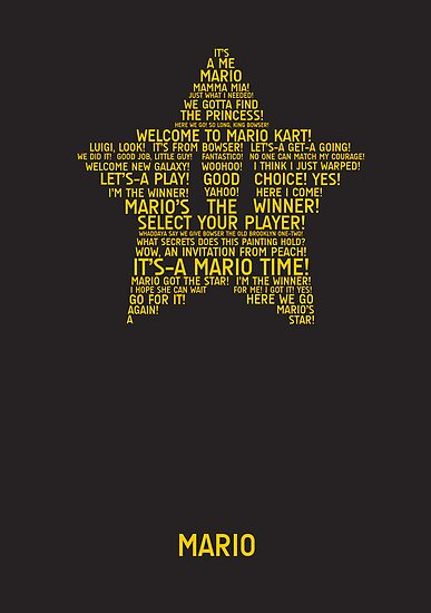 Mario Typography by TitanVex