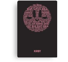Kirby Typography Canvas Print