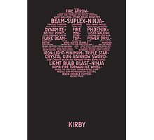 Kirby Typography Photographic Print