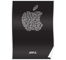 Apple Typography Poster
