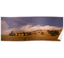 Mt Bryan and Abandoned Homestead in Morning Light Poster