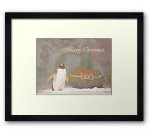 Cave Dweller Penguin (With Rock Gift) Framed Print