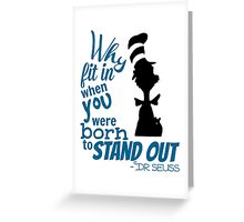 Dr Seuss Quote Greeting Card