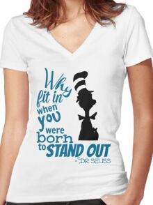 Dr Seuss Quote Women's Fitted V-Neck T-Shirt