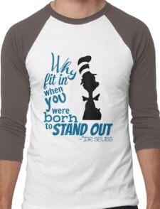 Dr Seuss Quote Men's Baseball ¾ T-Shirt