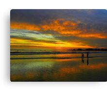 Multicolored Sunset Canvas Print