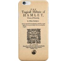 Shakespeare's Hamlet Front Piece iPhone Case/Skin