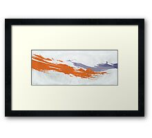 Two strokes Framed Print