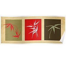 3 bamboo Poster