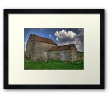Old Barn - Lastingham Framed Print