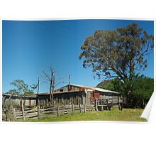RUSTIC OLD SHEARING SHED Poster