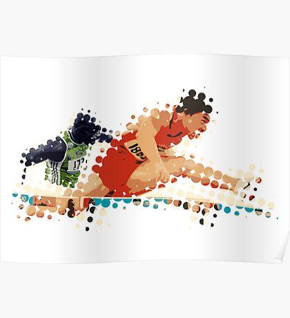 2012 Olympics Hurdles Poster