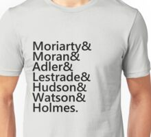Sherlock Names (Grey) Unisex T-Shirt