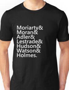 Sherlock Names (Black) Unisex T-Shirt