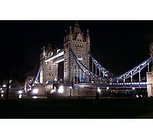Tower Bridge at Night Photographic Print