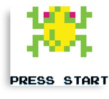 FROGGER RETRO PRESS START ARCADE TSHIRT Canvas Print