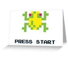 FROGGER RETRO PRESS START ARCADE TSHIRT Greeting Card
