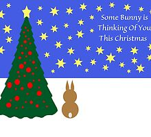 Some Bunny Christmas (With Tree & Stars) by CreativeEm