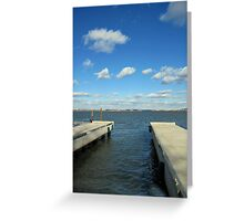 Belle Haven Marina. Looking towards Washington, D.C. Greeting Card