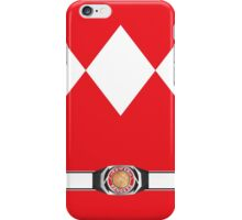 MMPR Red Ranger Uniform iPhone Case/Skin