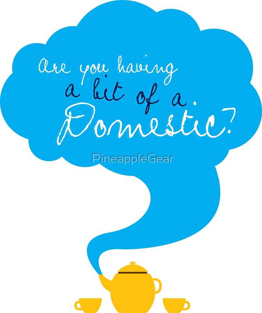 Bit of a Domestic by PineappleGear
