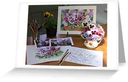 After the Pansies workshop by Ann Mortimer