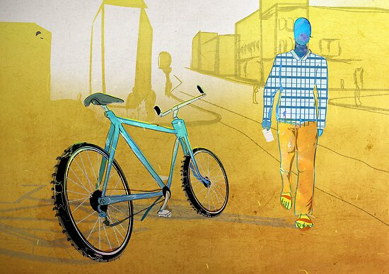 Bicycle Thief, Hot Summer Street by Tepa Lahtinen