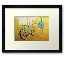 Bicycle Thief, Hot Summer Street Framed Print