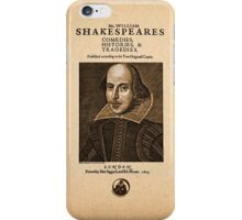 Shakespeare First Folio Front Piece iPhone Case/Skin