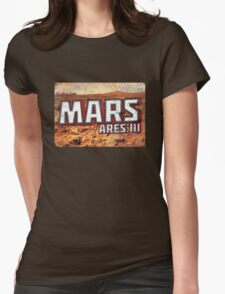 Greeting From Mars/The Martian  Womens Fitted T-Shirt