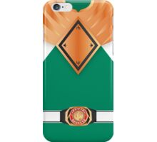MMPR Armoured Green Ranger Uniform iPhone Case/Skin
