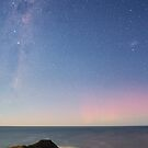 Moonlit Aurora Australis by Alex Cherney