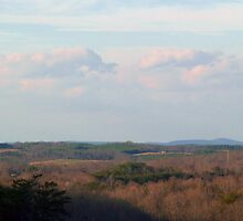 The Blue Ridge Mountains Seen from Danville, Virginia by BCallahan