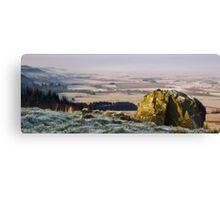 Frosy morning hillside Canvas Print