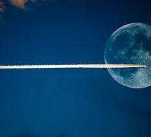 Jet stream full moon by kevindobie