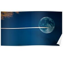 Jet stream full moon Poster