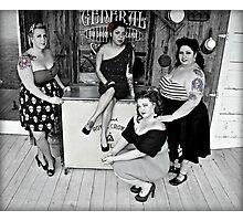 Girls Next Door Photographic Print